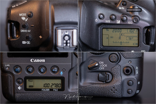 The button layout of the Canon EOS 1Dx mark III is very traditional. No surprised there.