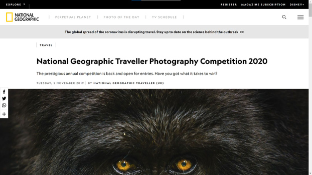 National Geographic Traveller Competition screenshot