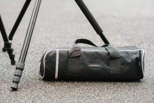Bag for a tripod.