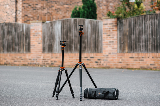 Two photography tripods