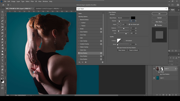 Add a layer style in Photoshop