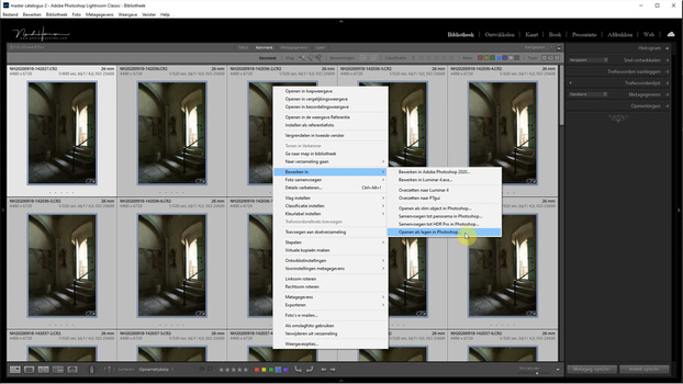 If you are working with Lightroom, you can open all selected images as layers in Photoshop.