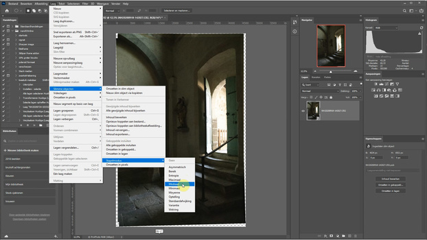 Stack the layers in the smart object with the option median. This way all noise will be eliminated