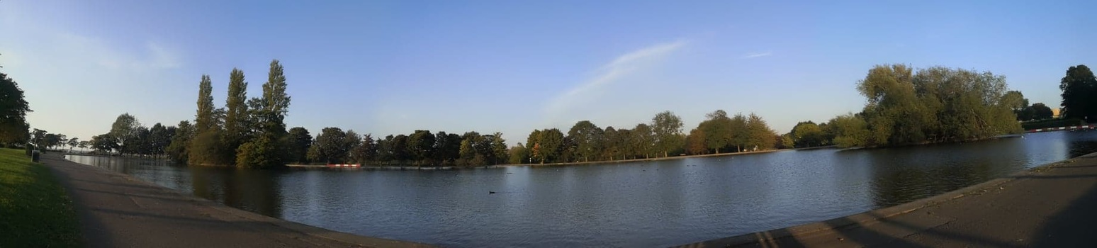 A pano image of a park.