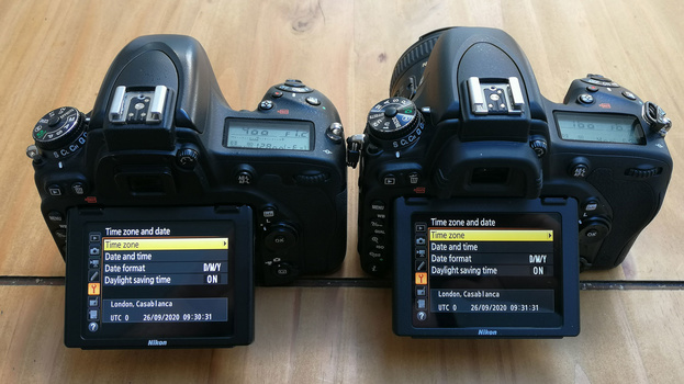Synchronize time and date on cameras
