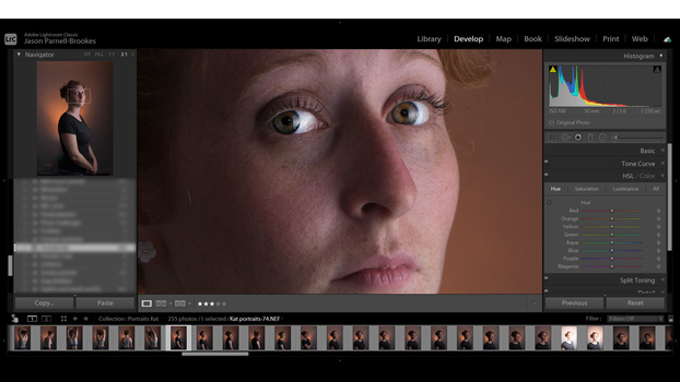 Retouching the eyes in lightroom