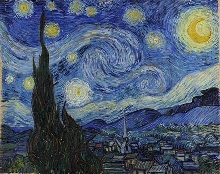 aj42-vincent-van-gogh-starry-night-classic-painting-art ... |Van Gogh Wallpaper Starry Night