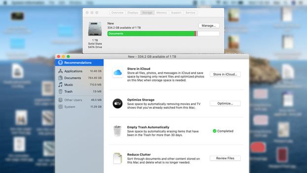 Managing storage on the MacBook Pro