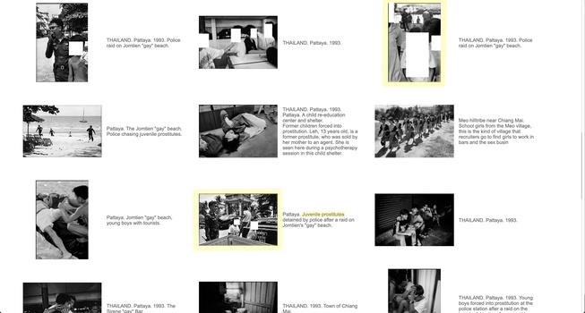 "Patrick Zachmann photographs of ""juvenile prostitutes"" Magnum website"