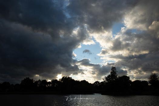 Exposure on the sky will make the foreground very dark
