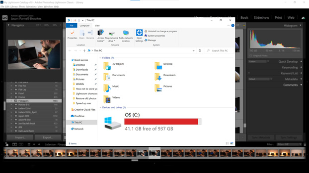 Don't store on the desktop