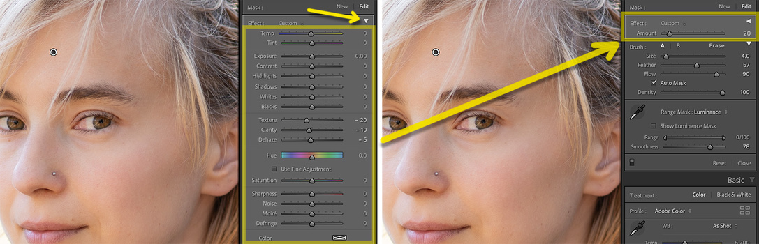 Lightroom Amount slider