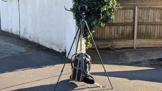 Nikon Camera on tripod