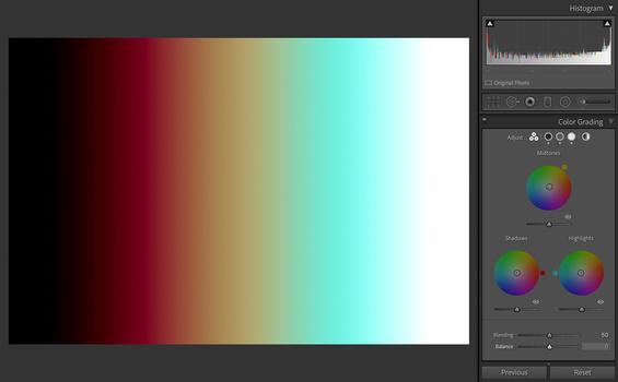 Lightroom Color Grading Balance hold alt option