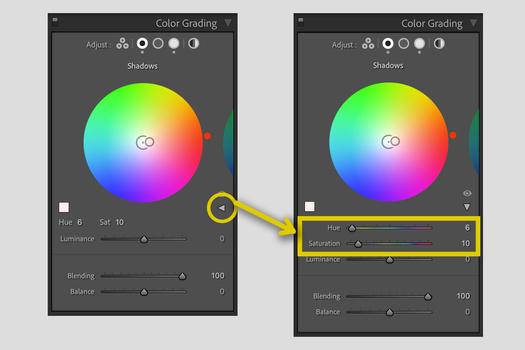 Lightroom Color Grading use old sliders