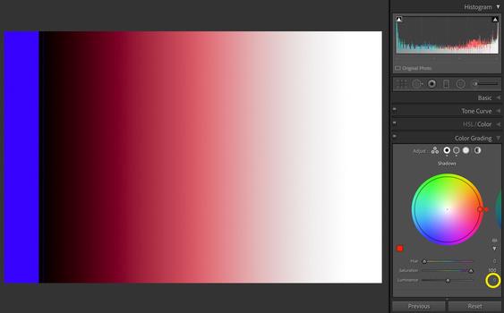 Lightroom Color Grading Luminance Slider