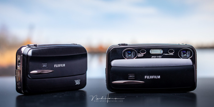 There are cameras that can capture a true 3D image of the world, like this Fujifilm W3. Watching these images are not that easy, and the quality is often very limited.