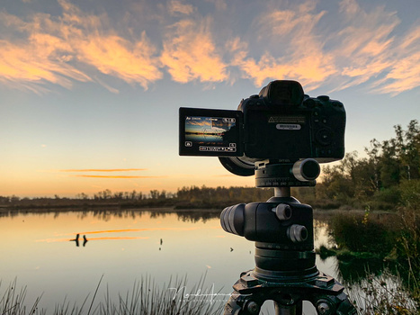 The Canon EOS R6 in use for some landscape photography.