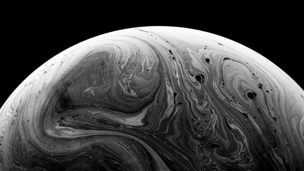 Black and white bubble photograph