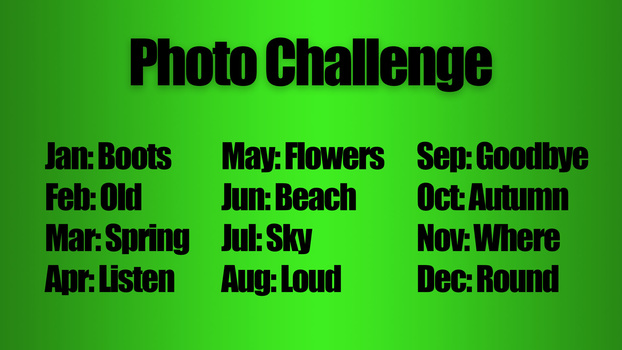Monthly photo challenges