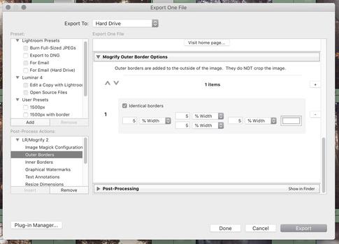 LR Mogrify 2 export dialog Lightroom