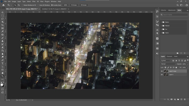 Duplicate the layer in photoshop