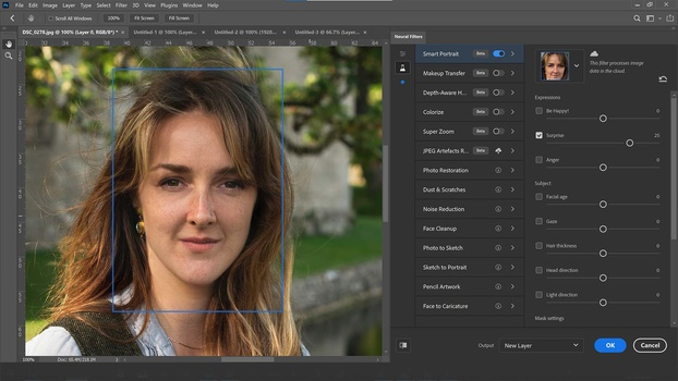 Face morphing fun in photoshop