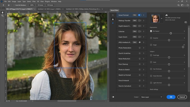 Be happy filter in photoshop