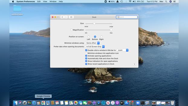 Hide/show dock on MacOS