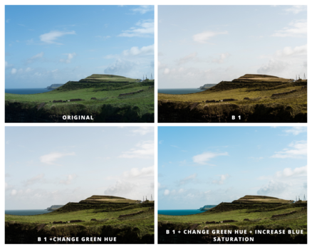 A collage of sea landscape.