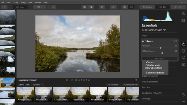 If you like to perform more sophisticated post-processing, like layers and blending options, you will have to stick to Luminar 4