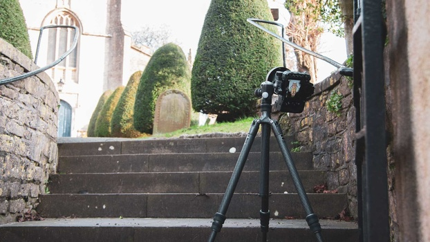 Low angle shooting church