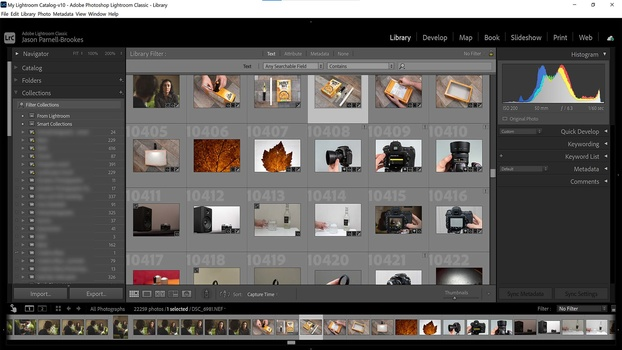Collections and smart collections in Lightroom