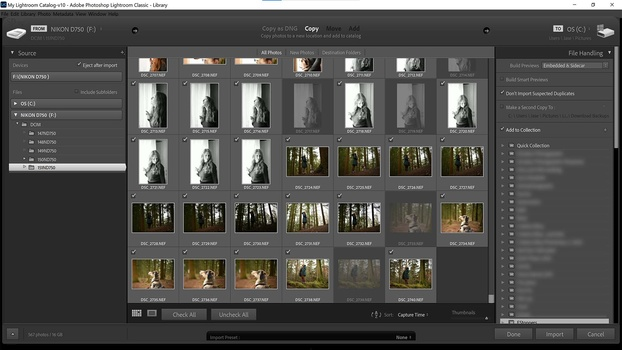 Import photos to a collection
