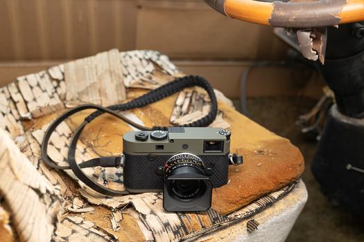 Leica M10-P Reporter camera on a car seat