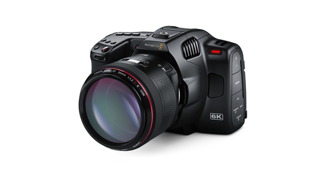 Close up of Blackmagic Pocket Cinema Camera 6K Pro