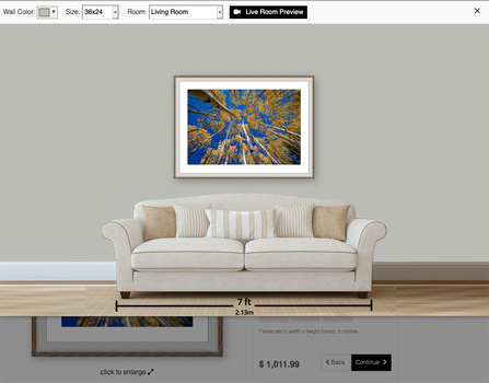 Art Storefronts' Wall Preview Tool