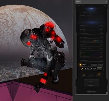 mask areas glow - Create a Metropolis Glow With the Oniric Plugin