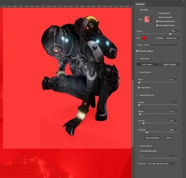 select subject example - Create a Metropolis Glow With the Oniric Plugin