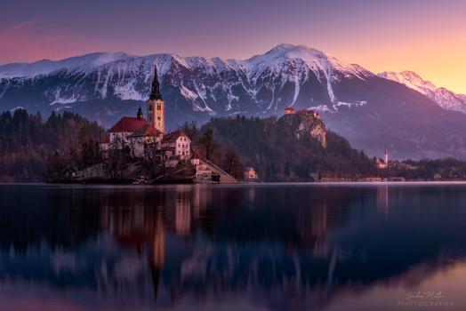 Mystical Lake Bled by SANDEEP MATHUR