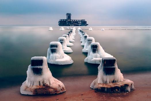 -16°C at Poland's Baltic Sea