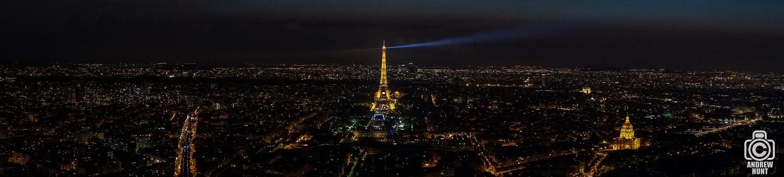 Paris at Night from Montparnasse Tower