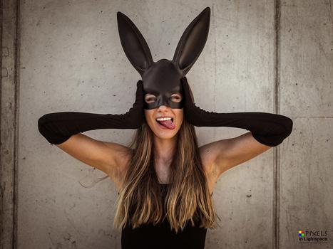 Bunnies have fun by Mladen Dakic