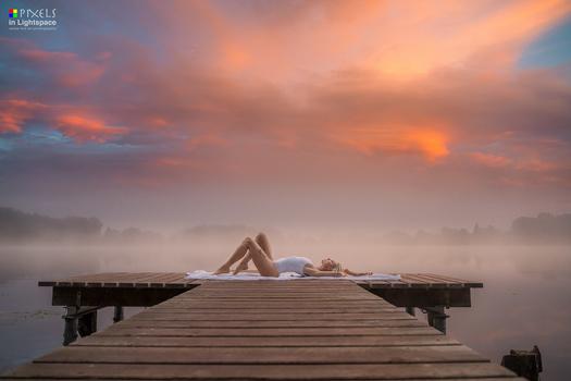 The Blonde under the burning Sky by Mladen Dakic