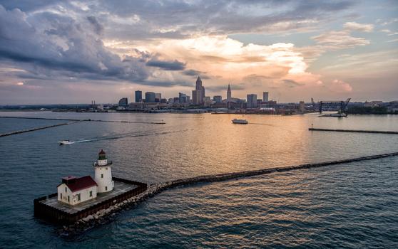Cleveland Skyline After Storm