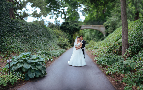 Longwood Gardens Wedding Portrait