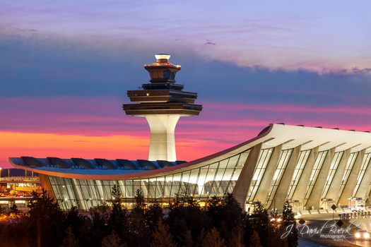 Eero Saarinen's Historic Main Terminal at Washington Dulles International Airport