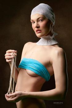 Girl with Pearls by JJ Jordan
