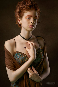 Girl with a Pearl Neclace by JJ Jordan