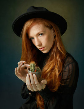 Girl with the Cactus by JJ Jordan